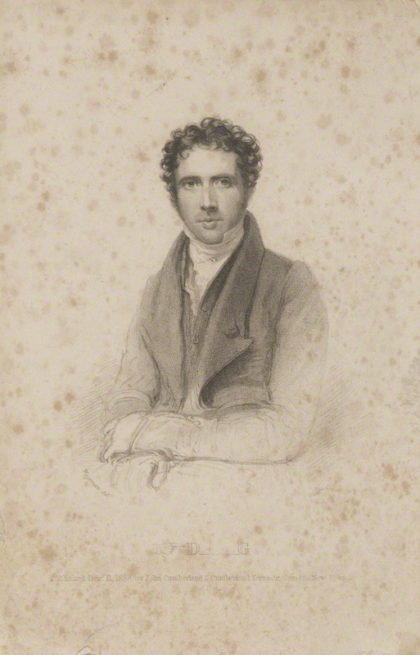 by Richard Woodman, published by John Cumberland, after Thomas Charles Wageman, stipple engraving, published 1838